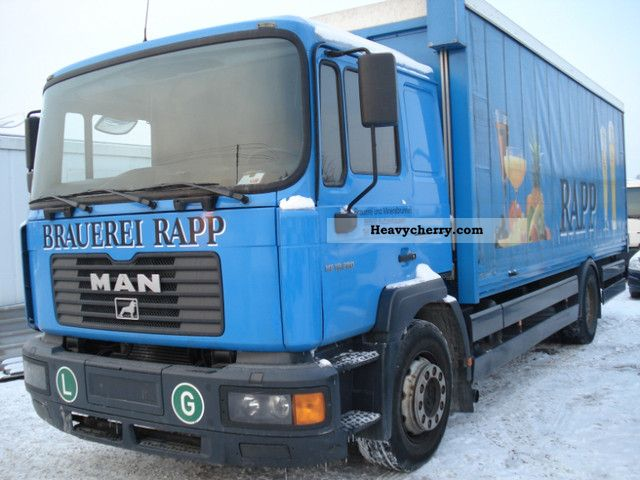 2003 MAN  ME 18.280 Truck over 7.5t Stake body and tarpaulin photo