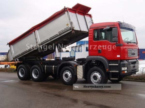 MAN TGA 32 410 8x4 * manual transmission * 3-way tipper ...