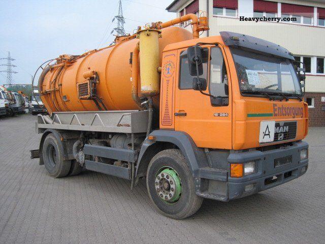 1999 MAN  18 264 4x2 Saugwagen Truck over 7.5t Vacuum and pressure vehicle photo