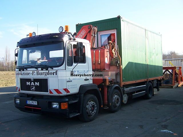 1995 MAN  With Fassi F03 crane F300.23 Truck over 7.5t Stake body photo