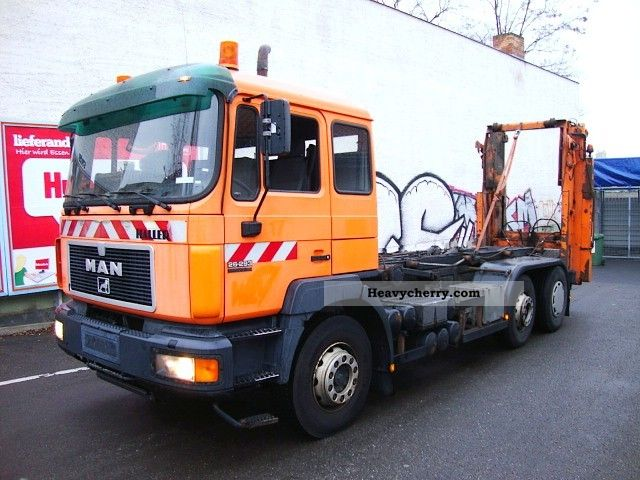 1999 MAN  26.293 garbage truck 6x2 conversion system air retarde Truck over 7.5t Refuse truck photo