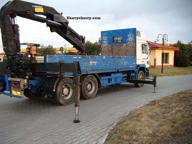 1994 MAN  HIAB 330-3 CRANE 27 422 6x4 DŹWIG Truck over 7.5t Truck-mounted crane photo