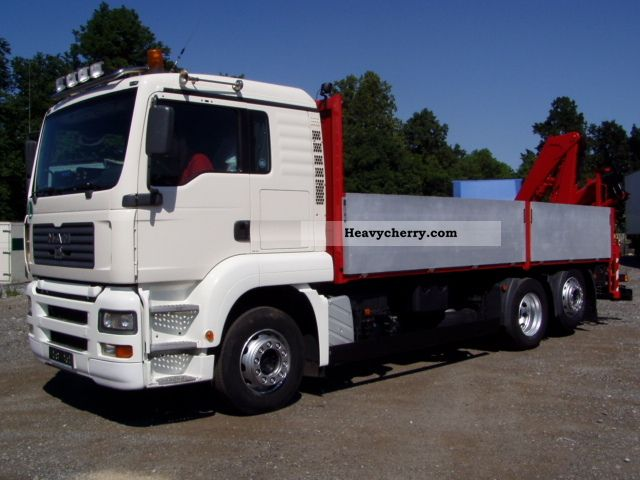 2006 MAN  26.430, CRANE FASSI150A24 Remote Truck over 7.5t Stake body photo