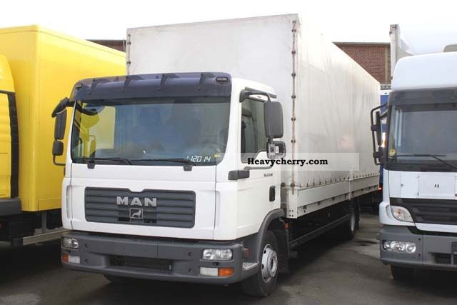 2008 MAN  TGL 12 240, plane, 7.2 m, LBW, 9-speed gearbox, E4 Truck over 7.5t Stake body and tarpaulin photo