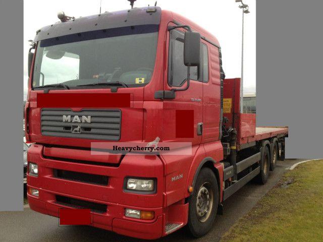 2003 MAN  26.480 6x2 platform with crane Hiab 102 Truck over 7.5t Stake body photo