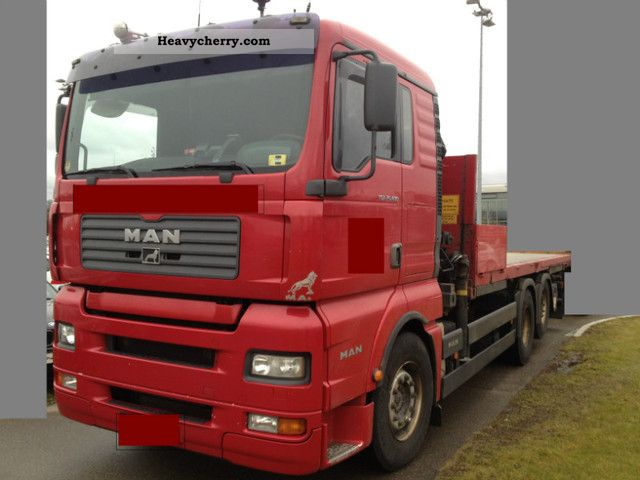 2003 MAN  26.480 6x2 platform with crane Hiab 102 Truck over 7.5t Timber carrier photo
