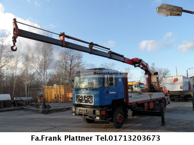 1993 MAN  25 372 Truck over 7.5t Truck-mounted crane photo