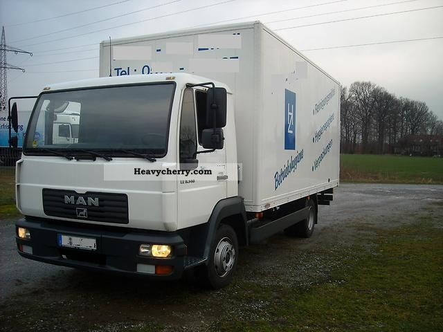 2003 MAN  LE 8140 case 5 mtr. Van or truck up to 7.5t Box photo