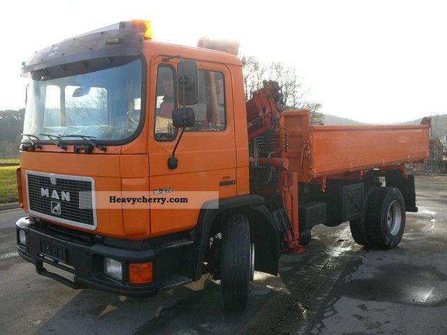 1992 MAN  FK 18 272 Truck over 7.5t Tipper photo