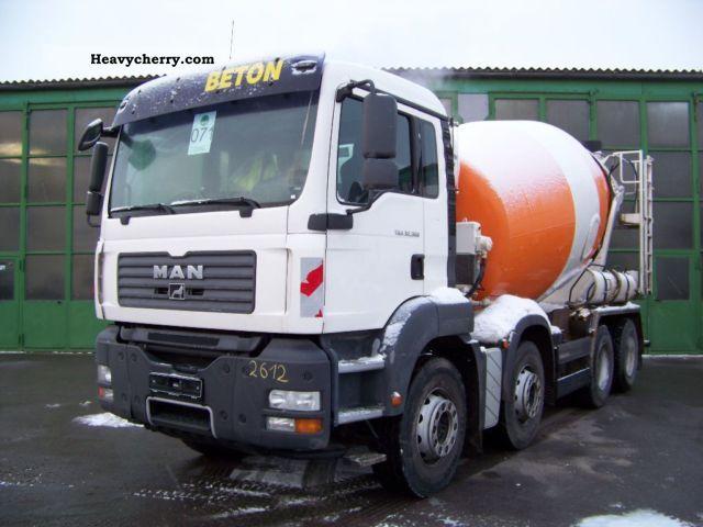 2008 MAN  TGA 32.360 8x4 BB - STETTER 9 m³ - Concrete Truck over 7.5t Cement mixer photo