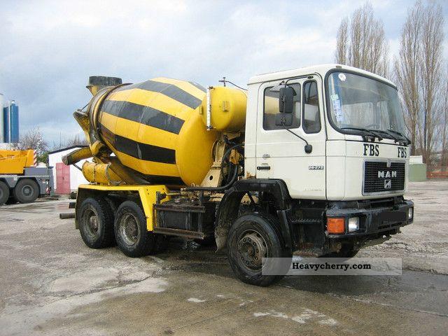 1991 MAN  26 272 Truck over 7.5t Cement mixer photo