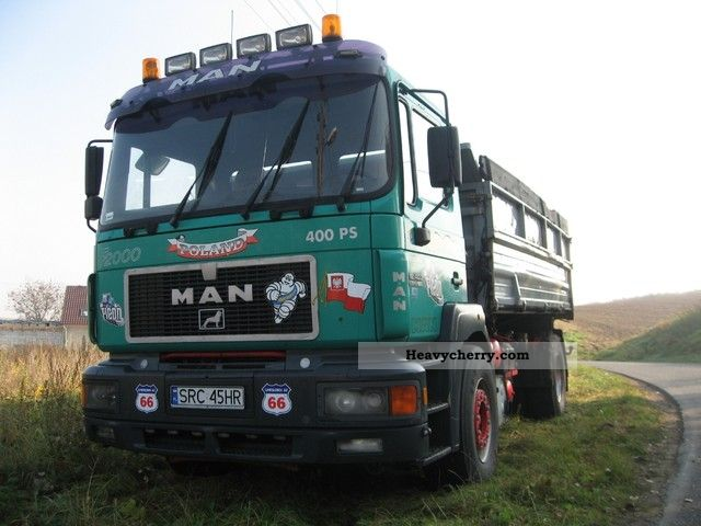 1997 MAN  19-403 Truck over 7.5t Three-sided Tipper photo