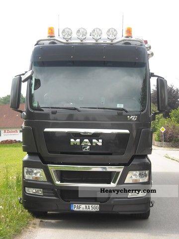 2007 MAN  V8 TGX 18.680 Semi-trailer truck Standard tractor/trailer unit photo