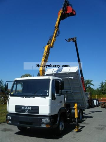 2003 MAN  Meiller tipper crane Le 140 Van or truck up to 7.5t Tipper photo