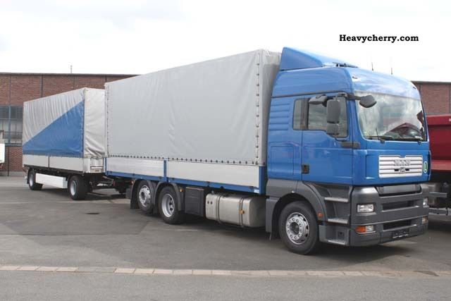 2008 MAN  TGA 26 400 6x2 flatbed articulated, € 5 Truck over 7.5t Stake body photo