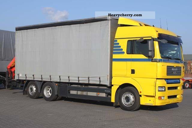 2007 MAN  LL 26 480 TGA, rear crane Palfinger PK 15002, E4 Truck over 7.5t Stake body photo