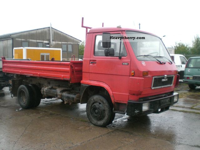 1992 MAN  8150 Van or truck up to 7.5t Tipper photo