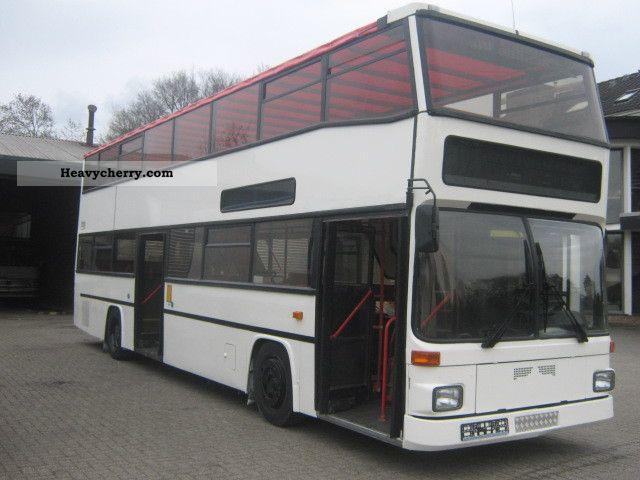 1992 MAN  2x SD202, Green sticker, Convertible, MOT-NEW Coach Double decker photo