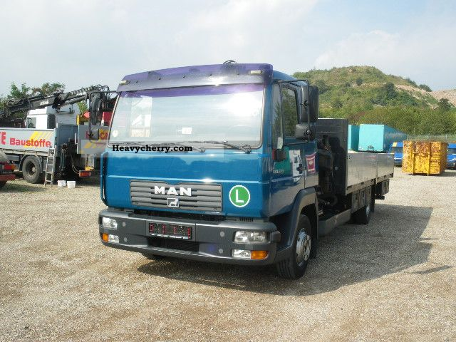 2003 MAN  LE 8220 BL, Tirre 61 12 mtr. Van or truck up to 7.5t Stake body photo