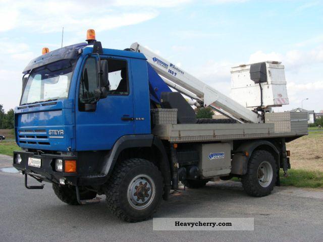 2000 MAN  Special Steyr 4x4 access platform 16m Truck over 7.5t Hydraulic work platform photo