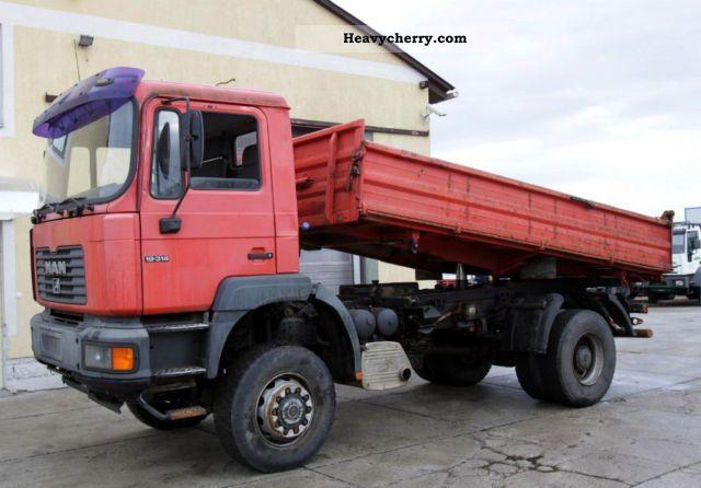 1999 MAN  19.314 4x4 Truck over 7.5t Three-sided Tipper photo