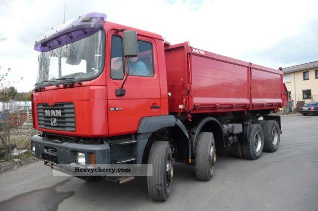 1999 MAN  VFK 35 414 8X4 Truck over 7.5t Three-sided Tipper photo