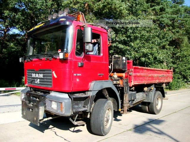 2000 MAN  19 364 AK 4x4 tipper crane Atlas 105.1 ABS Truck over 7.5t Three-sided Tipper photo