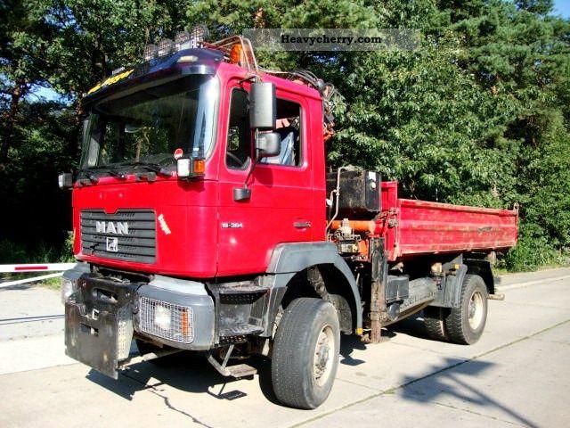 2000 MAN  19 364 AK 4x4 tipper crane Atlas 105.1 ABS Truck over 7.5t Tipper photo