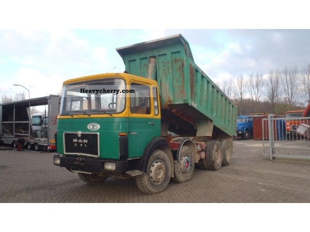 1985 MAN  33 280 8x4 Truck over 7.5t Tipper photo