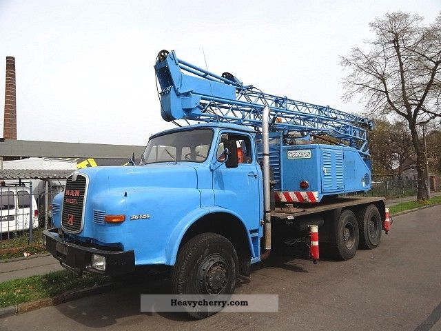1973 MAN  26 256 DHAK wheel 6x6 car Sennebogen crane 23m Truck over 7.5t Truck-mounted crane photo