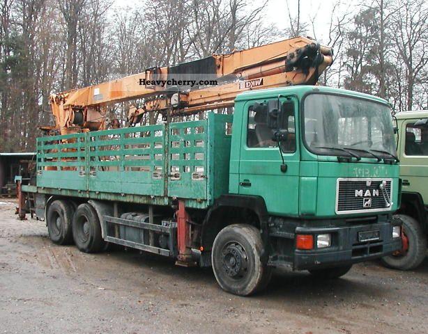 1992 MAN  26 372 MKG crane assembly Truck over 7.5t Truck-mounted crane photo