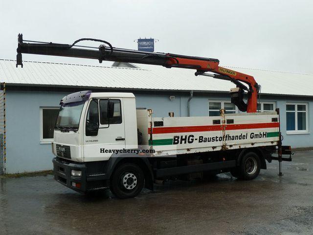 2003 MAN  LE 14.280 Lorry Crane Palfinger PK9501 Truck over 7.5t Stake body photo