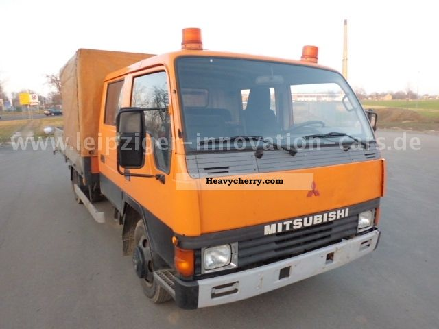 1992 Mitsubishi  Canter Doka platform Plane Van or truck up to 7.5t Stake body photo