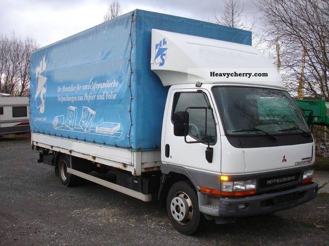 mitsubishi canter fe659 75 liftgate dautel climate 2003 stake body
