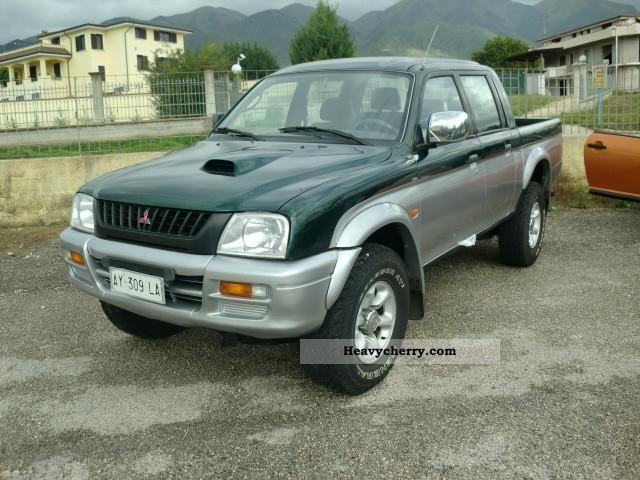 mitsubishi l200 pick up 4x4 magnum sports 1998 other vans. Black Bedroom Furniture Sets. Home Design Ideas