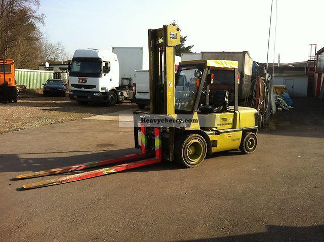 Four Way Side Loader Forklift Mitsubishi Rbm2025k Series: Mitsubishi FD35 Fully Hydraulic Preload Adjusters! TOP