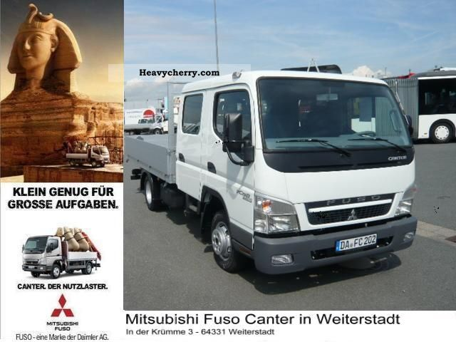2011 Mitsubishi  Fuso Canter 3 C 13 D air / APC / diff-lock Van or truck up to 7.5t Stake body photo