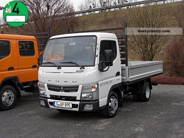 Mitsubishi Fuso Canter 3S13 automatic flatbed truck € 5 2012 Stake