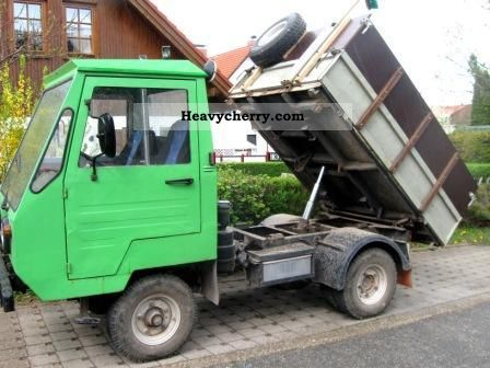 multicar m 25 1985 three sided tipper truck photo and specs. Black Bedroom Furniture Sets. Home Design Ideas