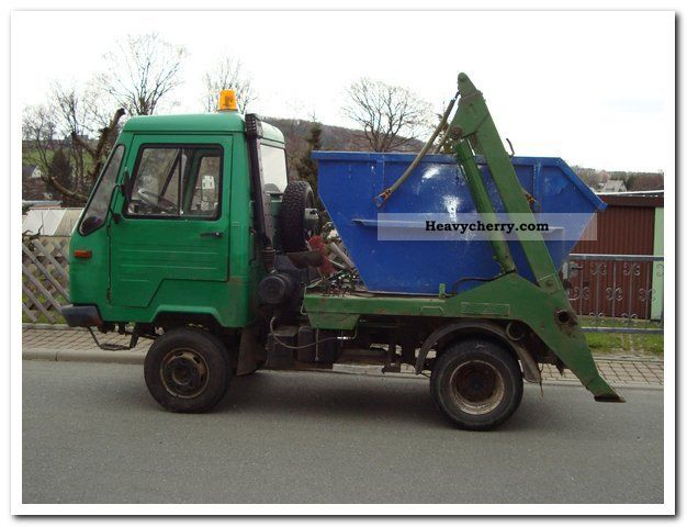 multicar m26 iveco 14 st container 1995 dumper truck photo and specs. Black Bedroom Furniture Sets. Home Design Ideas