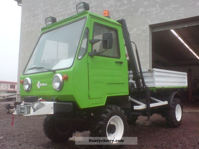 1992 Multicar  M25 MOD'91 CREEPER 4X4 WINCH CRANE FOREST Van or truck up to 7.5t Three-sided Tipper photo