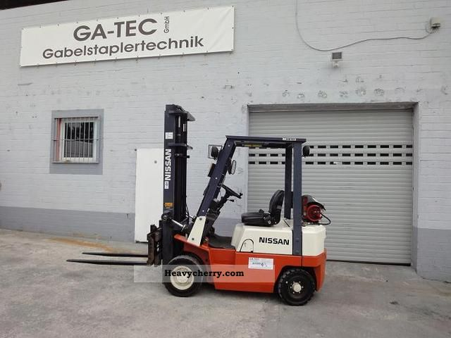 Nissan Pj01 A15 U 1999 Front Mounted Forklift Truck Photo And Specs