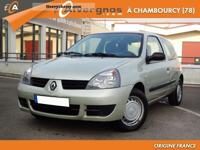 renault clio ii 2 1 5 dci 65 campus air societ 2007 box type delivery van photo and specs. Black Bedroom Furniture Sets. Home Design Ideas