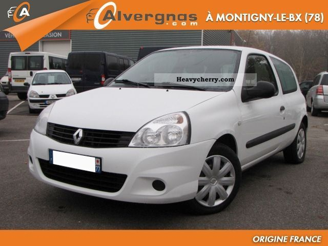 renault clio ii 3 1 5 dci 65 campus air societ 2010 box type delivery van photo and specs. Black Bedroom Furniture Sets. Home Design Ideas