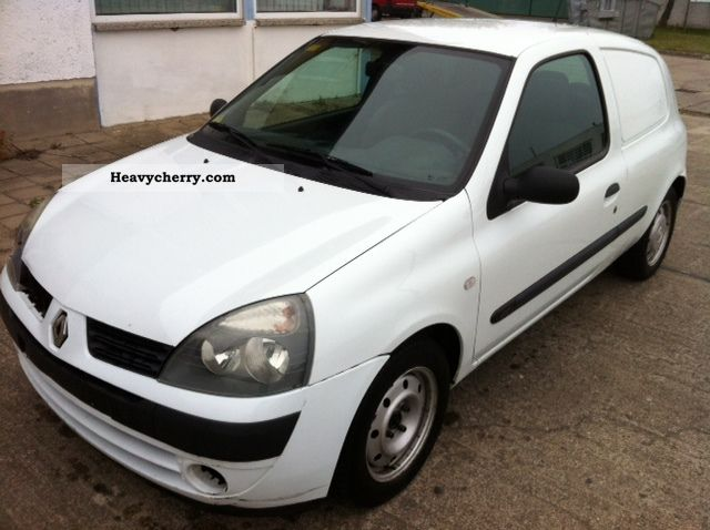 renault clio 1 5 dci diesel truck registration servo 2004 box type delivery van photo and specs. Black Bedroom Furniture Sets. Home Design Ideas