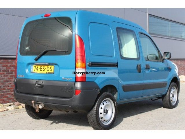 renault kangoo 1 9 dci 4x4 85pk airco 2005 box type delivery van photo and specs. Black Bedroom Furniture Sets. Home Design Ideas
