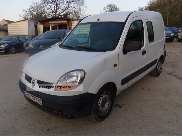 renault kangoo cft dci60 2005 box type delivery van photo and specs. Black Bedroom Furniture Sets. Home Design Ideas