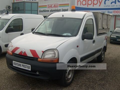 renault kangoo 9 1 d65 plateau 2002 box type delivery van photo and specs. Black Bedroom Furniture Sets. Home Design Ideas