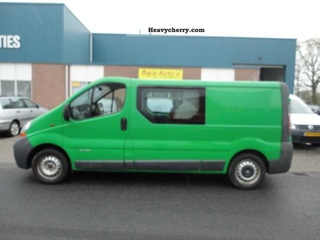 2006 Renault  trafic L2/H2 / d.c Van or truck up to 7.5t Box-type delivery van photo