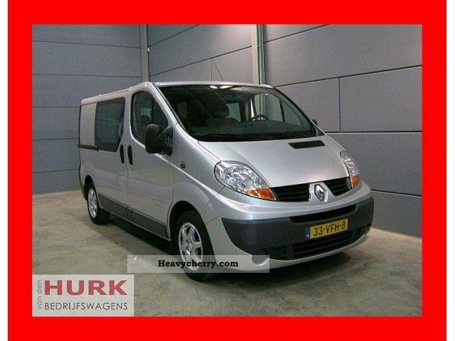 2007 Renault  Trafic 2.0 Dci DC dubbel cabine MET Dubbele SCHU Van or truck up to 7.5t Box-type delivery van photo